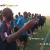 EXCLUSIF: #CAN2015: Communion des Léopards avec les supporteurs avant le derby contre le #CongoBrazza