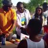 Fally Ipupa distribue les dons des fournitures scolaires aux enfants des Congolais de Dallas, Texas