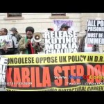 LONDRES: SIT-IN LIBEREZ DIOMI NDONGALA, Les combattants demande la Liberation immediate de DIOMI !