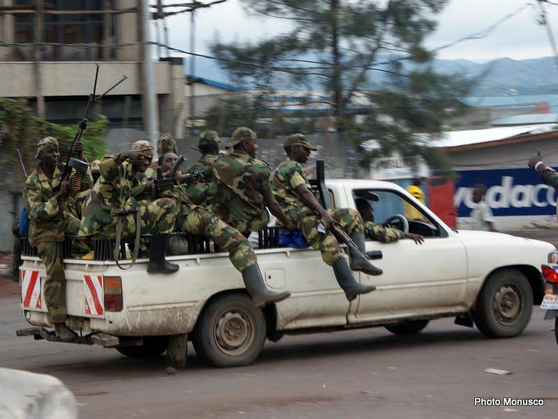 Les rebelles du M23 font leur entrée dans la ville de Goma, capitale provinciale du Nord-Kivu, mardi 20 novembre 2012.