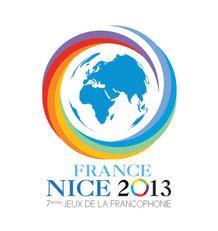 Le logo des septièmes Jeux de la Francophonie. Photo Droits tiers.