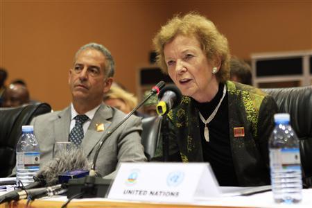 Mary Robinson à Kampala