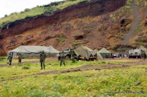 Un campement des FARDC à Kibati Goma, au Nord-Kivu