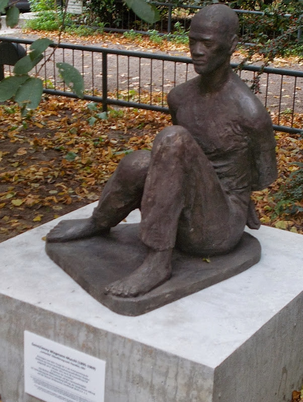 Statue de Patrice-Emery Lumumba, héros de l'indépendance de la RDC, érigée à Berlin en Allemagne. (Ph. Tundanonga Dikunda)