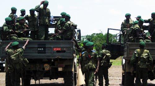 Les éléments des FARDC au Nord-Kivu