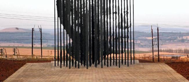 Sculpture représentant Nelson Mandela en Afrique du Sud. © AFP PHOTO / RAJESH JANTILAL