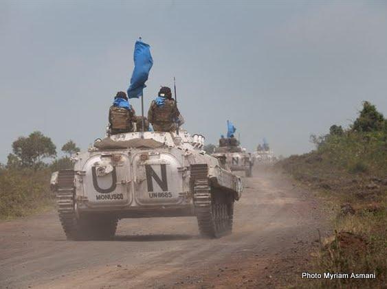 Une patrouille de casques bleus de la Monusco à Rutshuru au Nord-Kivu (Photo Myriam Asmani)