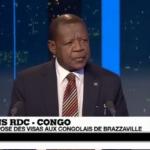 Lambert Mende sur la visite de Kabila chez Francois Hollande, la Centrafrique et l'expulsion des RD.Congolais de Brazza (France24)