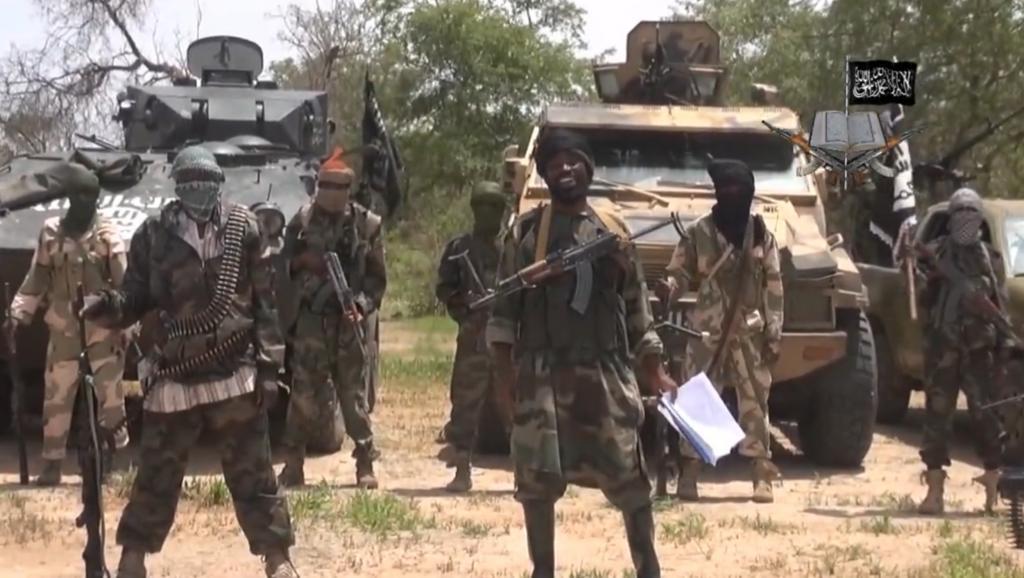 Capture d'écran d'une vidéo du groupe islamiste nigérian le 13 avril 2014 qui montre le leader de Boko Haram, Abubakar Shekau. AFP PHOTO / BOKO HARAM