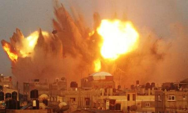 An-air-strike-in-Rafah-in-011