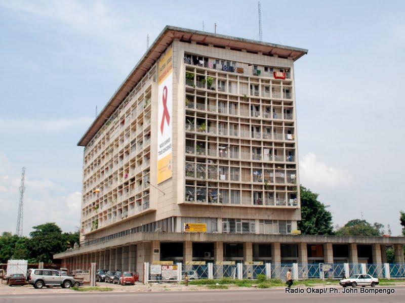 Immeuble Le Royal à Kinshasa. Radio Okapi/ Ph. John Bompengo