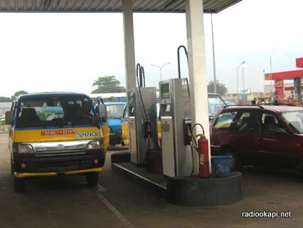 Une station de carburant à Kinshasa.