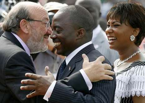 Louis Michel et Kabila