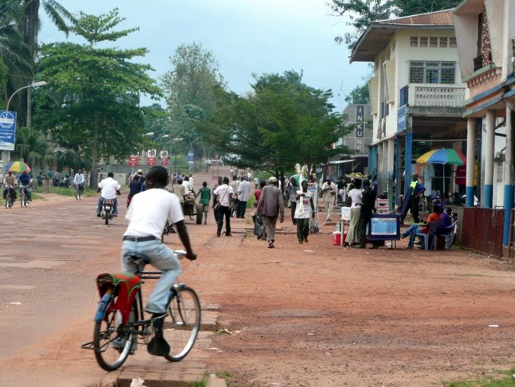 Une vue du centre ville de Mbandaka dans la province de l'Equateur (RDC) .