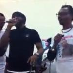 Fally Ipupa, Sam Tshintu, Modogo Abarambua et les anciens du Quartier Latin chantent Babia Ndonga Chokoro