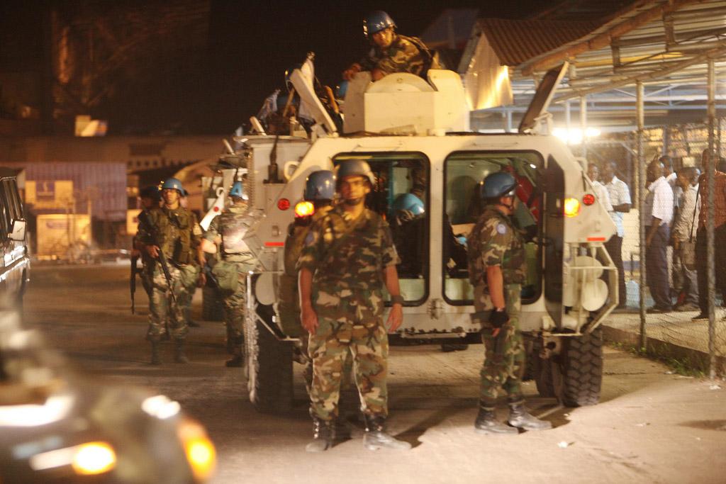 Des Casques bleus de l'ONU à Kinshasa, la capitale de la République démocratique du Congo. Photo MONUSCO/Myriam Asmani