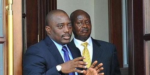 Président Kabila et Museveni