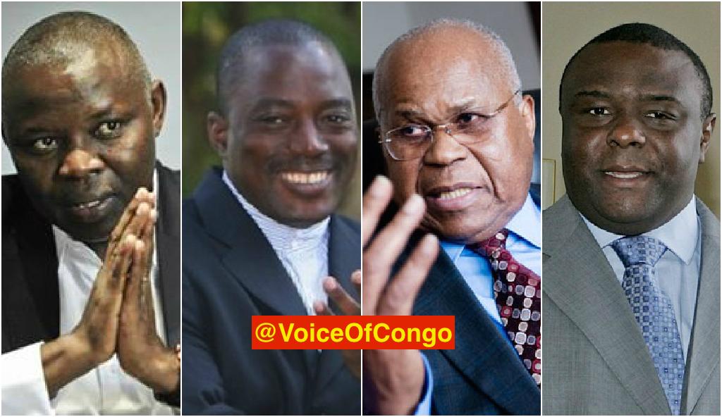 Kamerhe, Kabila, Tshisekedi et Bemba