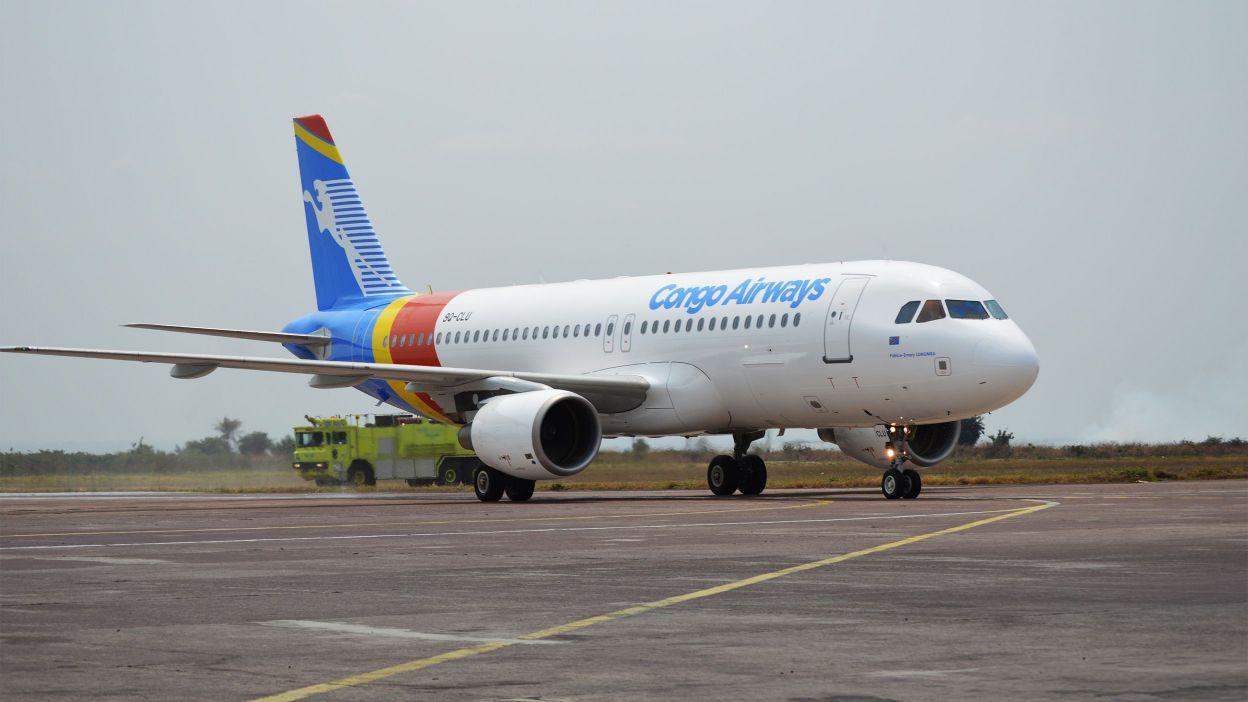"L'Airbus A 320 ""Patrice Emery Lumumba"" de Congo Airways. - © Twitter"