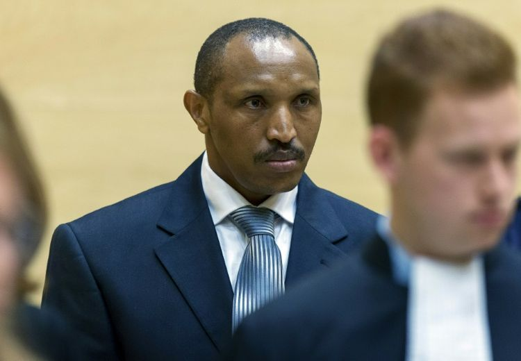 L'ex-chef de guerre Bosco Ntaganda devant la Cour pénale internationale, le 2 septembre 2015 à La Haye (Photo MICHAEL KOOREN. AFP)