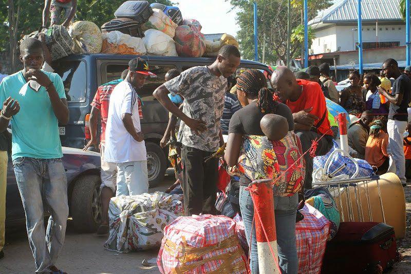 Congolais expulsés de Brazza