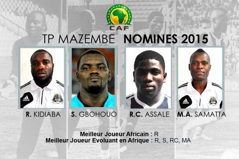 Mazembe jouer nominés