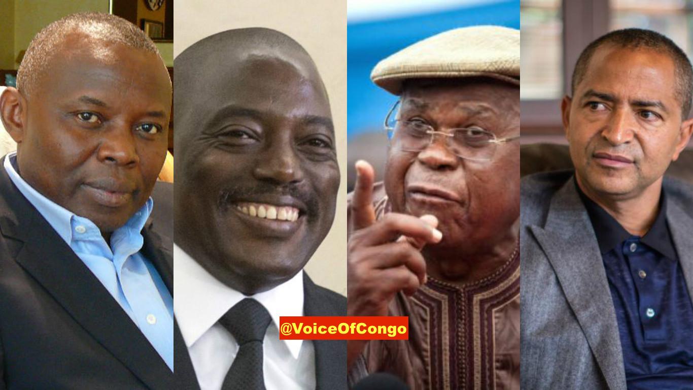 Moise, Kamerhe, Tshisekedi et Kabila