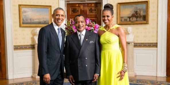 Sassou et famille Obama