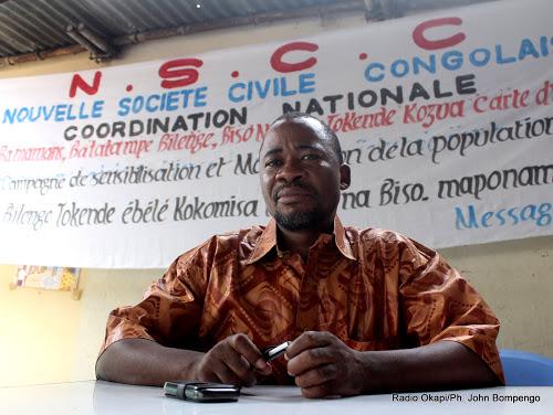 Jonas Tshombela. Radio Okapi/ Ph. John Bompengo