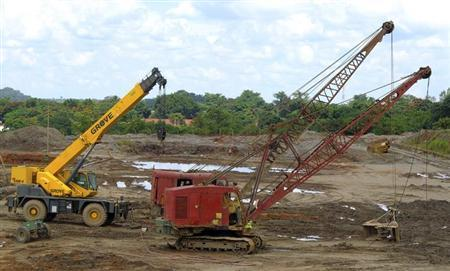 Machinery is seen at the Congolese state mining company Gecamines' copper plant in Kambove, in the southern region of Katanga