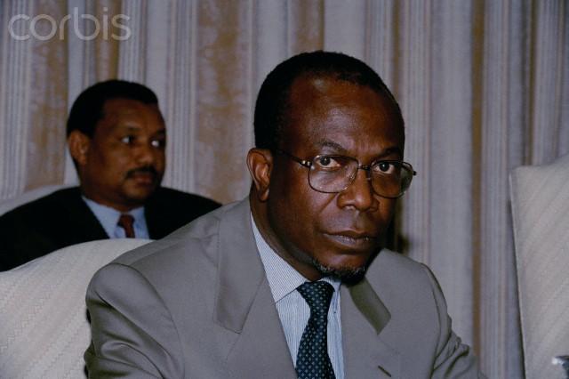 Zairian foreign minister Gerard Kamanda wa Kamanda