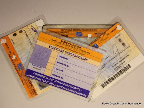 cartes d'électeurs. Radio Okapi/ Ph. John Bompengo