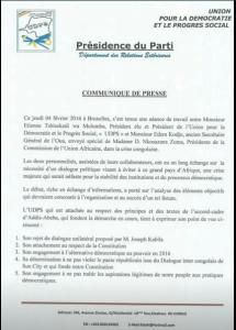 UDPS_Communique_rejet_dialogue