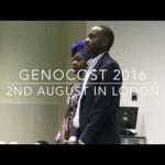 #GENOCOST 2016 : Commemoration du Genocide Congolais à Londres [VIDÉO]