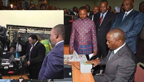 Enrôlement à Kinshasa : Kabila Le Premier à Recevoir Sa