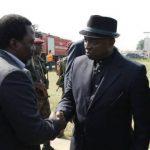 Kabila acceuilli à Kananga par le chef Kamwena Nsapu