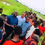 Dossier site agricole de Kingabwa Ngwele : Des jeunes leaders de Mont Amba sont descendus apporter leur soutient aux maraichères