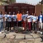 """Lutte contre l'insalubrité à Kinshasa : Des membres de la fondation Beni Musheni étaient en """"salongo"""" à Lingwala ce weekend"""