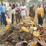 Kasaï central: Le gouverneur Martin Kabuya a présidé à l'incinération de 45 colis de chanvre saisis par l'ANR à Kananga
