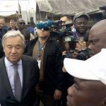 RDC : Après Goma, Antonio Guterres est arrivé à Beni ce dimanche
