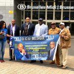 Visite de Tshisekedi en Belgique : Une délégation du DCU conduite par Bethy Pitilo déjà à l'aéroport de Melsbroek en attente de l'arrivée du Président