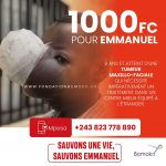 RDC : En partenariat avec Andy Bemba, la fondation Bomoko lance une collecte de fonds pour secourir un garçon de 9 ans atteint d'une tumeur faciale