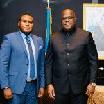 RDC : L'administrateur gérant de l'association Libange, Andy Bemba reçu par Felix Tshisekedi à New-York