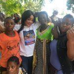"""RDC : En tournée à Kinshasa, la fondatrice de l'ASBL """"Femme Forte"""" Sylvie Masuku a sensibilisé les maraichères de Maluku sur la moralité de la personnalité de la femme"""