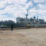 Reprise de la coopération militaire Belgique – RDC : Le navire A960 GODETIA de la marine belge en escale à Boma