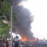 Kinshasa : Une usine de fabrication des cartons a pris feu à Kingabwa