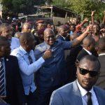 Kinshasa : Felix Tshisekedi est descendu à Kingabwa/Ndanu pour constater les dégats causés par les inondations