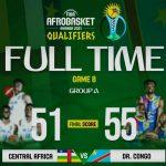 Eliminatoire Afrobasket 2021 : La RDC bat la RCA (55-51) dans le cadre de la première journée