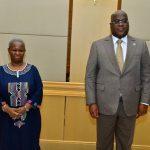 RDC : La nouvelle cheffe de la MONUSCO reçue par Félix Tshisekedi