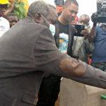 Kinshasa: Le ministre du développement rural a inauguré un nouveau forage d'eau potable à N'sele